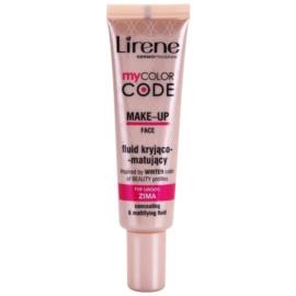 Lirene My Color Code make-up fluid cu efect matifiant culoare Pink Porcelain  30 ml