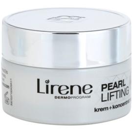 Lirene Pearl Lifting regenerierende Nachtcreme mit der Wirkung eines Serums 45+  50 ml