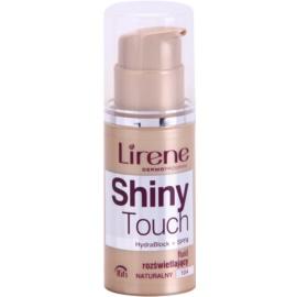 Lirene Shiny Touch Maquilhagem iluminadora em fluido 16 h tom 104 Natural (SPF 8) 30 ml