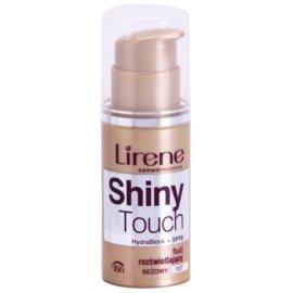 Lirene Shiny Touch Maquilhagem iluminadora em fluido 16 h tom 107 Beige (SPF 8) 30 ml