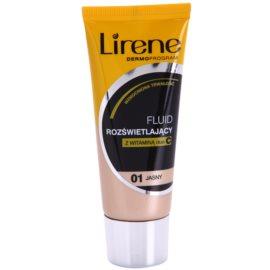 Lirene Vitamin C rozjasňující fluidní make-up pro dlouhotrvající efekt odstín 01 Light 30 ml