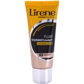 Lirene Vitamin C rozświetlający podkład we fluidzie dla długotrwałego efektu odcień 03 Beige 30 ml