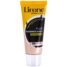 Lirene Vitamin C rozjasňující fluidní make-up pro dlouhotrvající efekt odstín 04 Tanned 30 ml
