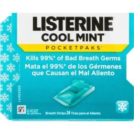 Listerine Cool Mint felpezsdítő szalagok szájszag ellen  24 m