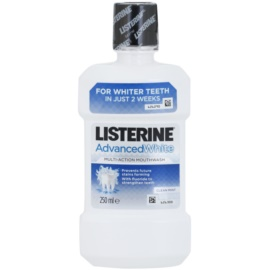 Listerine Advanced White elixir bocal com efeito branqueador sabor Clean Mint  250 ml