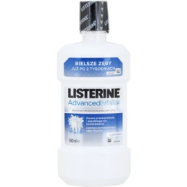 Listerine Advanced White elixir bocal com efeito branqueador sabor Clean Mint  500 ml