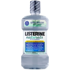 Listerine Naturals Herbal Mint Antiseptisches Mundwasser mit Fluor  1000 ml