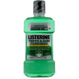 Listerine Teeth & Gum Defence Mundwasser gegen Plaque für gesundes Zahnfleisch Geschmack Fresh Mint  500 ml