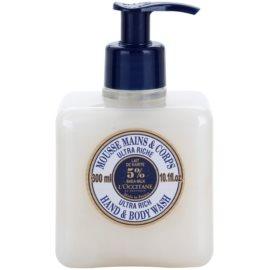 L'Occitane Karité extra gyengéd szappan kézre és testre  300 ml