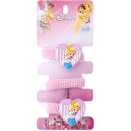 Lora Beauty Disney Cinderella elásticos para cabelo em forma de coração  3 un.