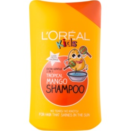 L'Oréal Paris Kids shampoo e balsamo 2 in 1 per bambini Tropical Mango 250 ml