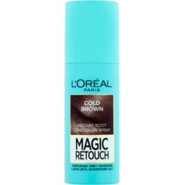 L'Oréal Paris Magic Retouch Spray zum sofortigen Kaschieren der Farbunterschiede durch nachwachsende Haare Farbton Cold Brown 75 ml