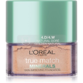 L'Oréal Paris True Match Minerals pudrový make-up odstín 4.D/4.W Golden Natural 10 g
