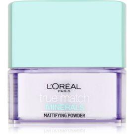 L'Oréal Paris True Match Minerals pudra transparent cu efect matifiant  10 g