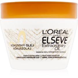 L'Oréal Paris Elseve Extraordinary Oil Coconut Voedende Masker  voor Normaal tot Droog Haar   300 ml