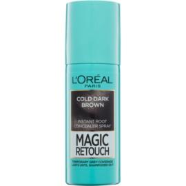 L'Oréal Paris Magic Retouch sprej pro okamžité zakrytí odrostů odstín Cold Dark Brown 75 ml