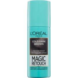 L'Oréal Paris Magic Retouch Spray zum sofortigen Kaschieren der Farbunterschiede durch nachwachsende Haare Farbton Cold Dark Brown 75 ml