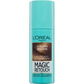 L'Oréal Paris Magic Retouch Spray zum sofortigen Kaschieren der Farbunterschiede durch nachwachsende Haare Farbton Golden Brown 75 ml