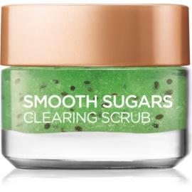 L'Oréal Paris Smooth Sugars Scrub peeling oczyszczający  przeciw zaskórnikom  50 ml