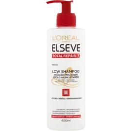 L'Oréal Paris Elseve Total Repair 5 Low Shampoo olio balsamo detergente per capelli rovinati e secchi  400 ml