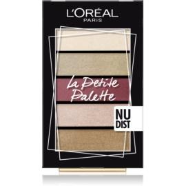 L'Oréal Paris La Petite Palette paleta farduri de ochi culoare Nudist 5 x 0,8 g