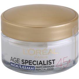 L'Oréal Paris Age Specialist 45+ noční krém proti vráskám  50 ml