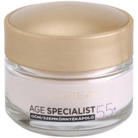 L'Oréal Paris Age Specialist 55+ krema za predel okoli oči proti gubam  15 ml