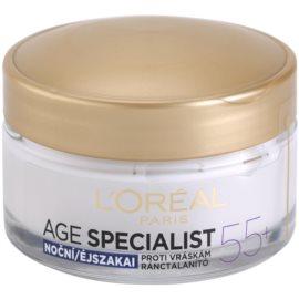 L'Oréal Paris Age Specialist 55+ нічний крем проти зморшок   50 мл
