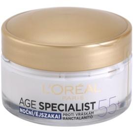 L'Oréal Paris Age Specialist 55+ crema de noche antiarrugas  50 ml