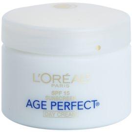 L'Oréal Paris Age Perfect nappali hidratáló krém a bőröregedés ellen SPF 15  70 g