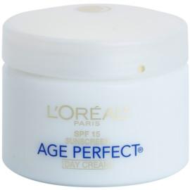 L'Oréal Paris Age Perfect crema de día hidratante contra el envejecimiento de la piel SPF 15  70 g