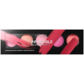 L'Oréal Paris Infaillible Blush Paint paleta tvářenek odstín The Pinks  10 g