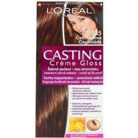 L'Oréal Paris Casting Creme Gloss barva na vlasy odstín 535 Chocolate