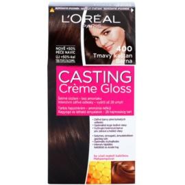L'Oréal Paris Casting Creme Gloss farba na vlasy odtieň 400 Dark Brown