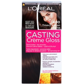 L'Oréal Paris Casting Creme Gloss farba do włosów odcień 400 Dark Brown