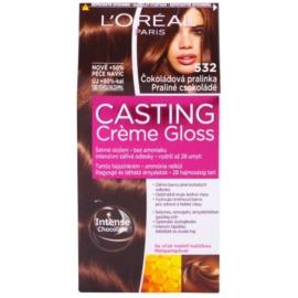 L'Oréal Paris Casting Creme Gloss farba do włosów odcień 532 Praline Chocolate