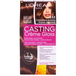 L'Oréal Paris Casting Creme Gloss coloração de cabelo tom 532 Praline Chocolate