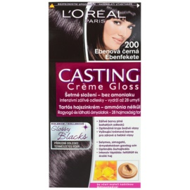 L'Oréal Paris Casting Creme Gloss barva na vlasy odstín 200 Ebony Black