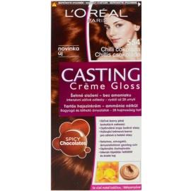 L'Oréal Paris Casting Creme Gloss coloração de cabelo tom 554 Spicy Chocolates