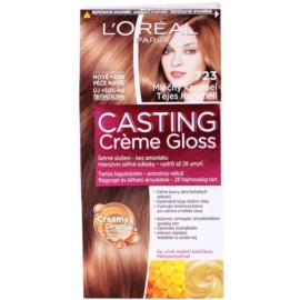 L'Oréal Paris Casting Creme Gloss coloração de cabelo tom 723 Milk Caramel
