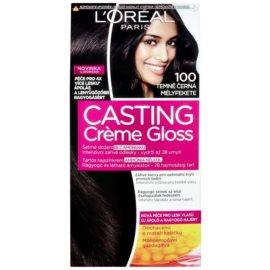L'Oréal Paris Casting Creme Gloss coloração de cabelo tom 100 Deep Black
