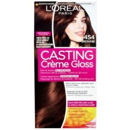 L'Oréal Paris Casting Creme Gloss barva na vlasy odstín 454 Brownie