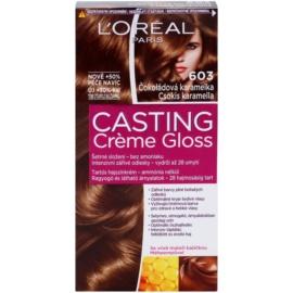 L'Oréal Paris Casting Creme Gloss farba na vlasy odtieň 603 Chocolate Caramel