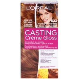 L'Oréal Paris Casting Creme Gloss barva na vlasy odstín 623 Hot Chocolate
