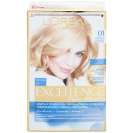 L'Oréal Paris Excellence Creme farba na vlasy odtieň 01 Lightest Natural Blonde
