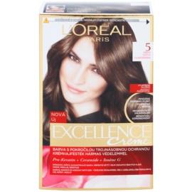 L'Oréal Paris Excellence Creme farba do włosów odcień 5 Natural Brown