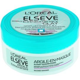 L'Oréal Paris Elseve Extraordinary Clay Reinigungsmaske für schnell fettiges Haar  150 ml