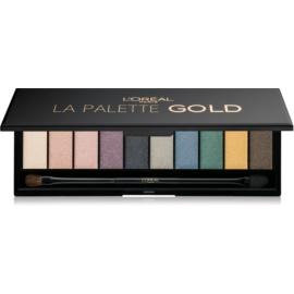 L'Oréal Paris Color Riche La Palette Gold paleta farduri de ochi cu oglinda si aplicator  7 g