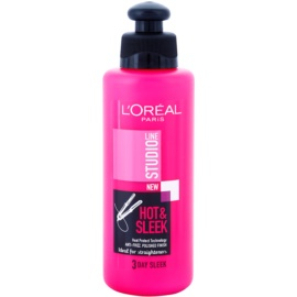 L'Oréal Paris Studio Line Hot & Sleek termo-fiksacijsko gladilno mleko za lase  200 ml