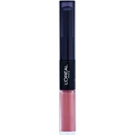 L'Oréal Paris Infallible hosszan tartó rúzs és ajakfény 2 az 1-ben árnyalat 111 Permanent Blush 5 ml